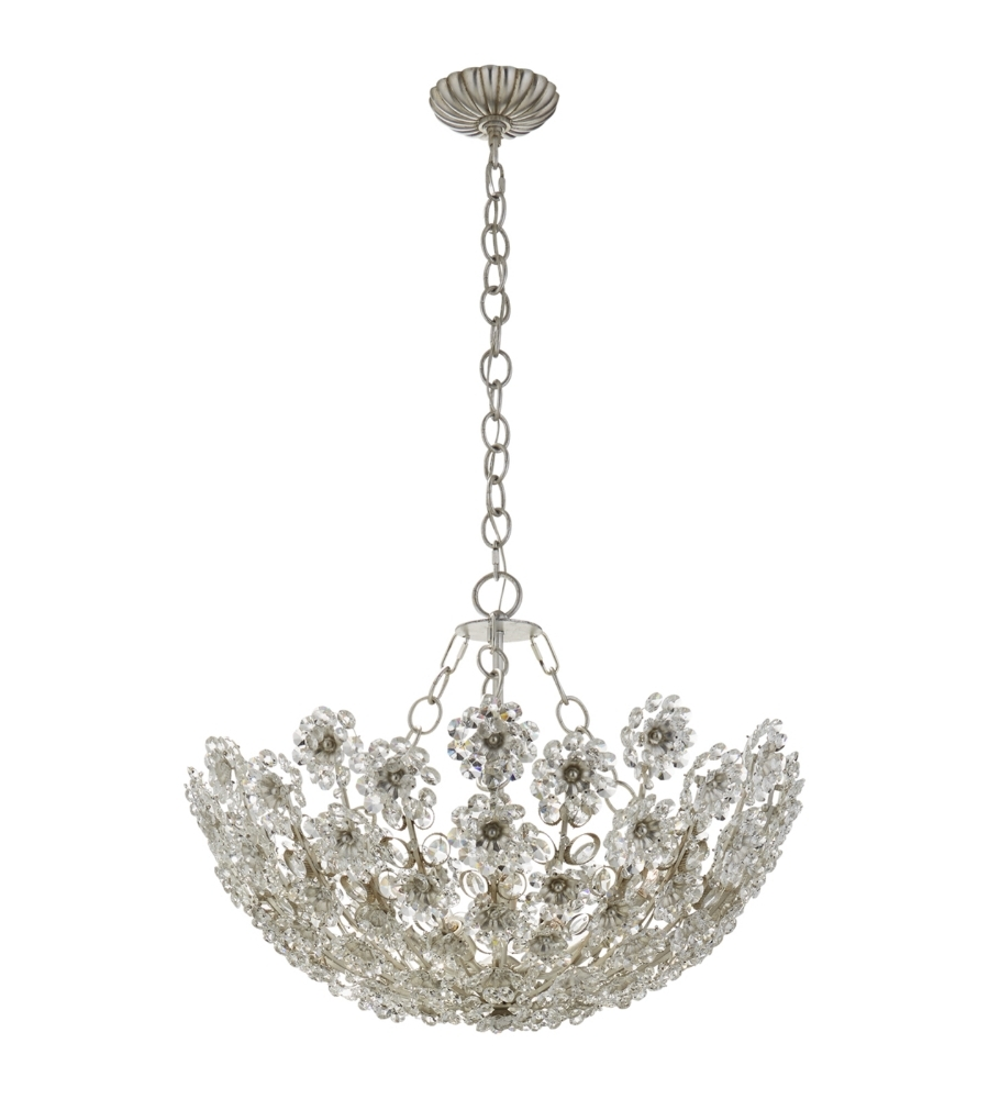 Short Chandelier For Fashionable Visual Comfort Arn 5220bsl Cg Aerin Traditional Claret Short (View 15 of 20)