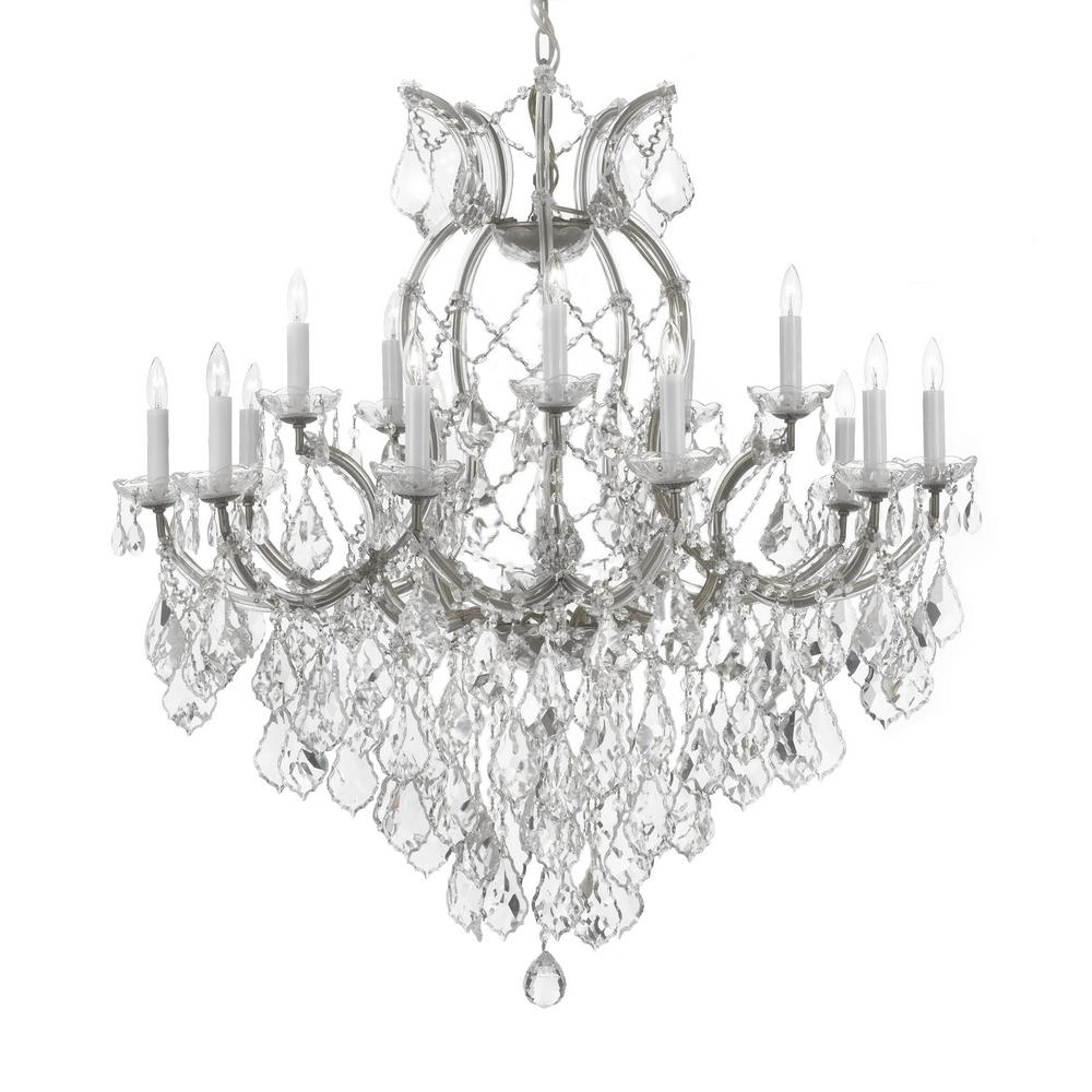 Silver Chandeliers With Regard To Newest Maria Theresa 16 Light Empress Crystal Chandelier Silver T40  (View 14 of 20)