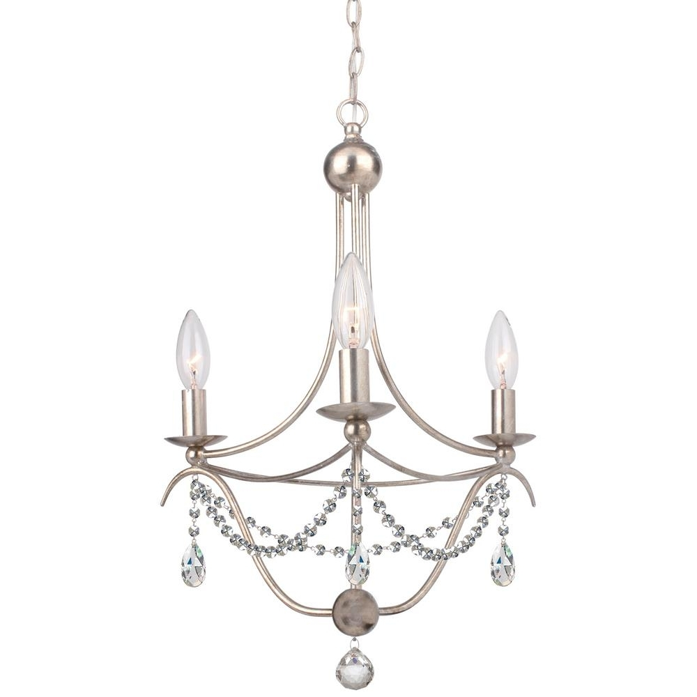 Silver Chandeliers Within Favorite Island – Silver – Chandeliers – Lighting – The Home Depot (View 15 of 20)