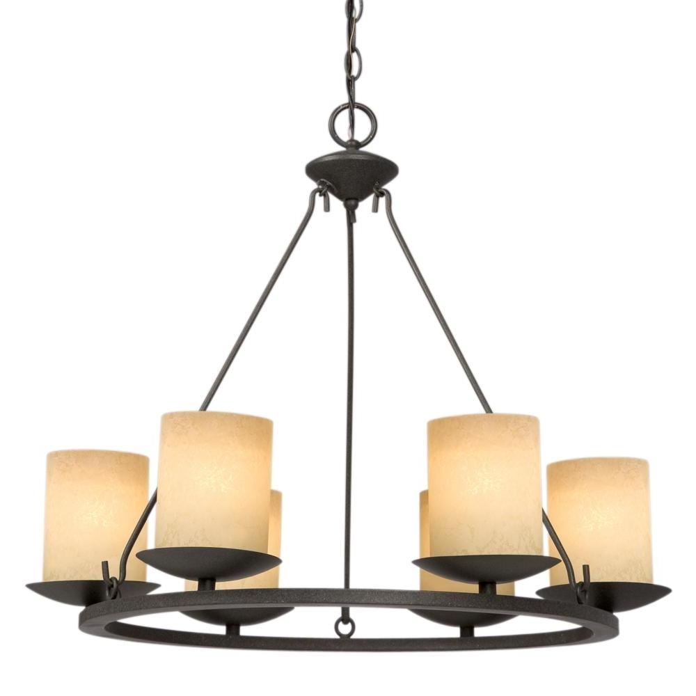 Six Light Bronze Candle Chandelier : 6xkxl (View 5 of 20)