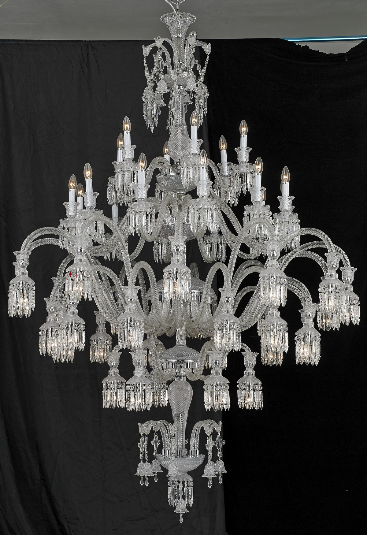 Sol 48 Light Baccarat Inspired Chandelier Within Famous Murano Chandelier Replica (View 3 of 20)