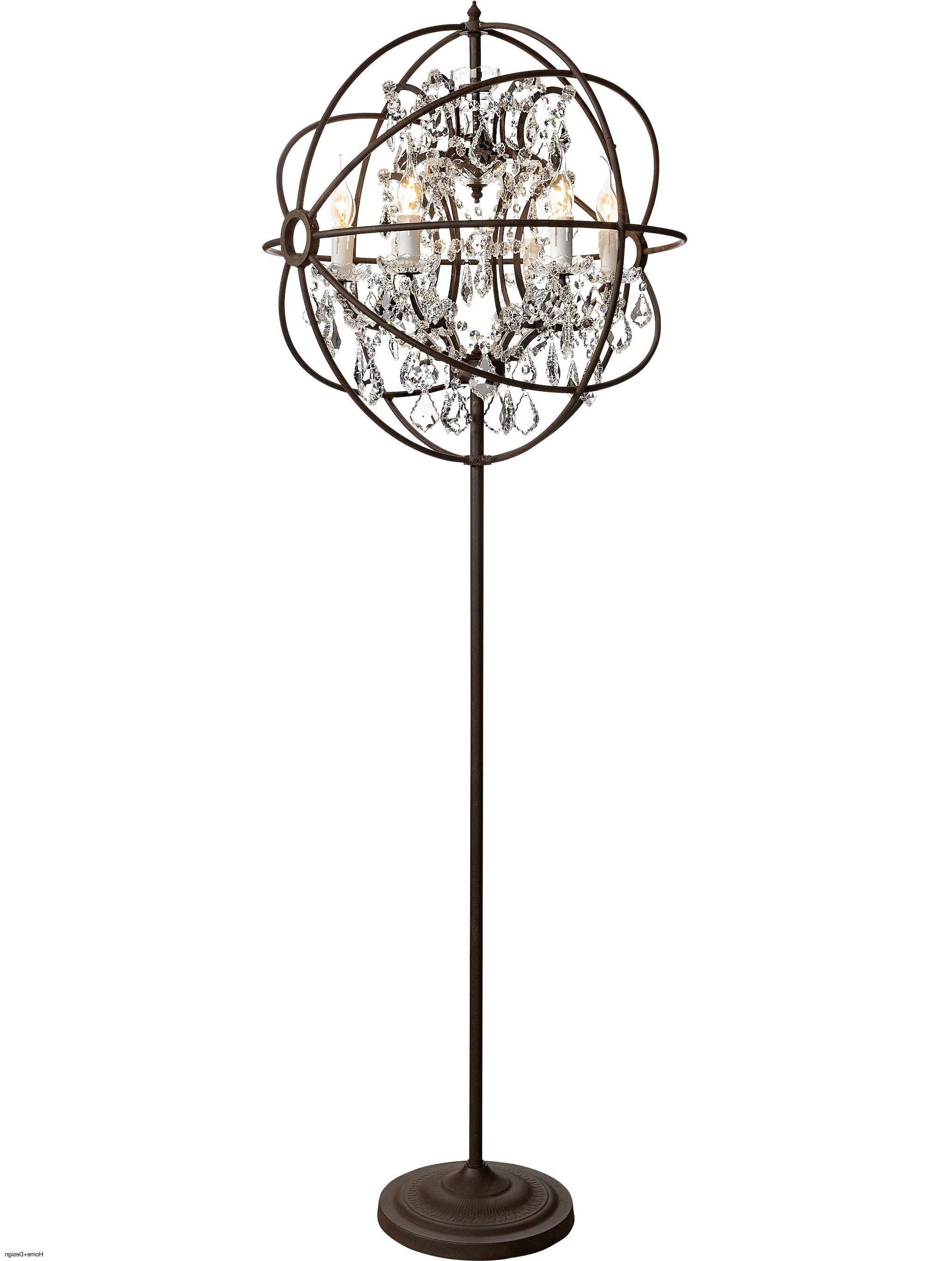 Standing Chandelier Floor Lamp – Chandelier Designs In Latest Free Standing Chandelier Lamps (View 7 of 20)
