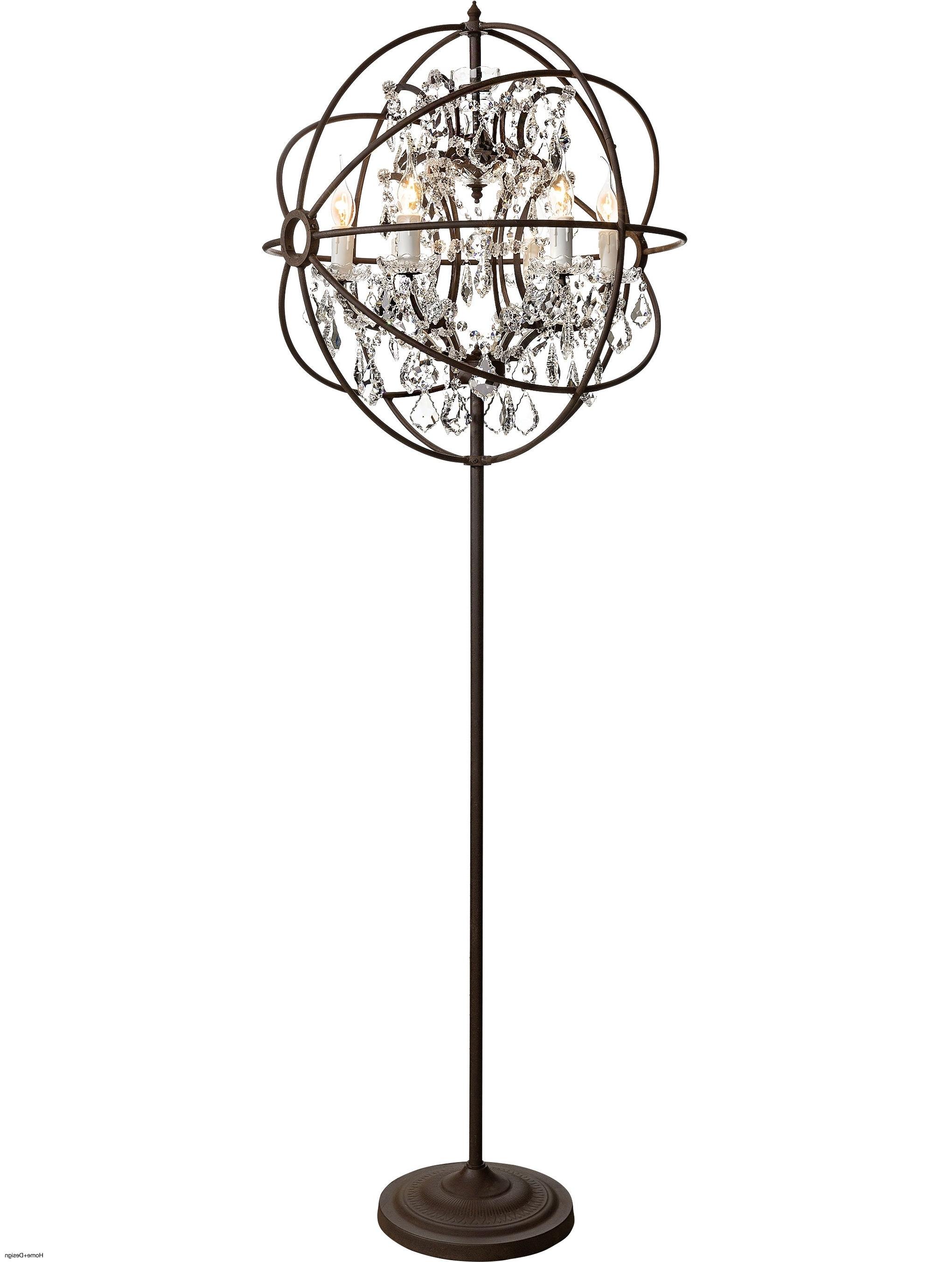 Standing Chandelier Floor Lamp – Chandelier Designs In Latest Free Standing Chandelier Lamps (View 7 of 20)