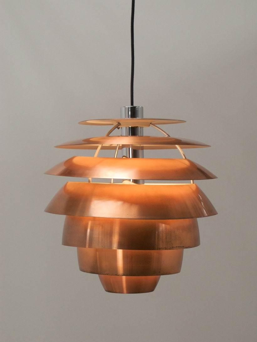Stilnovo Copper Chandelier  (View 15 of 20)