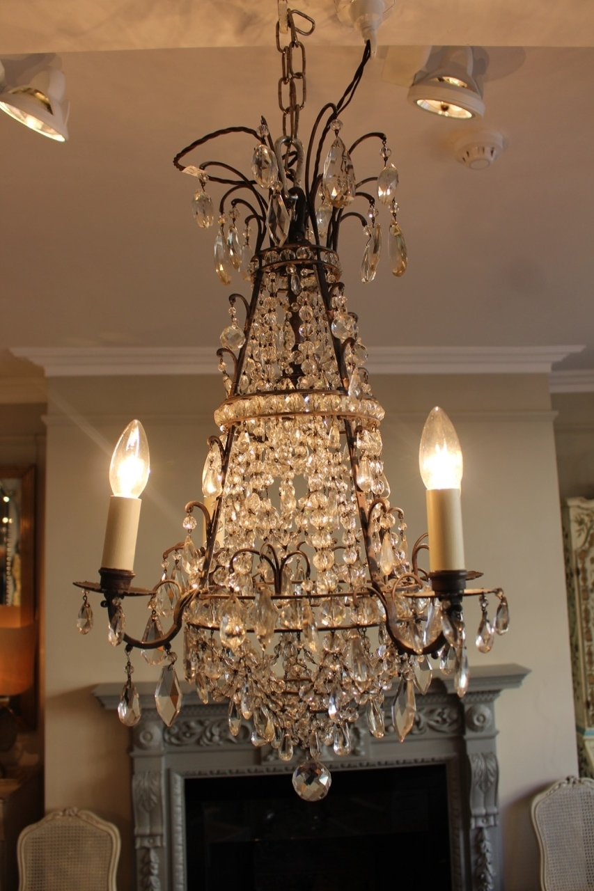 Trendy Antique Mirror Chandelier Intended For Early 20Th Century French Cut Glass Chandelier – Antique Mirrors (View 16 of 20)