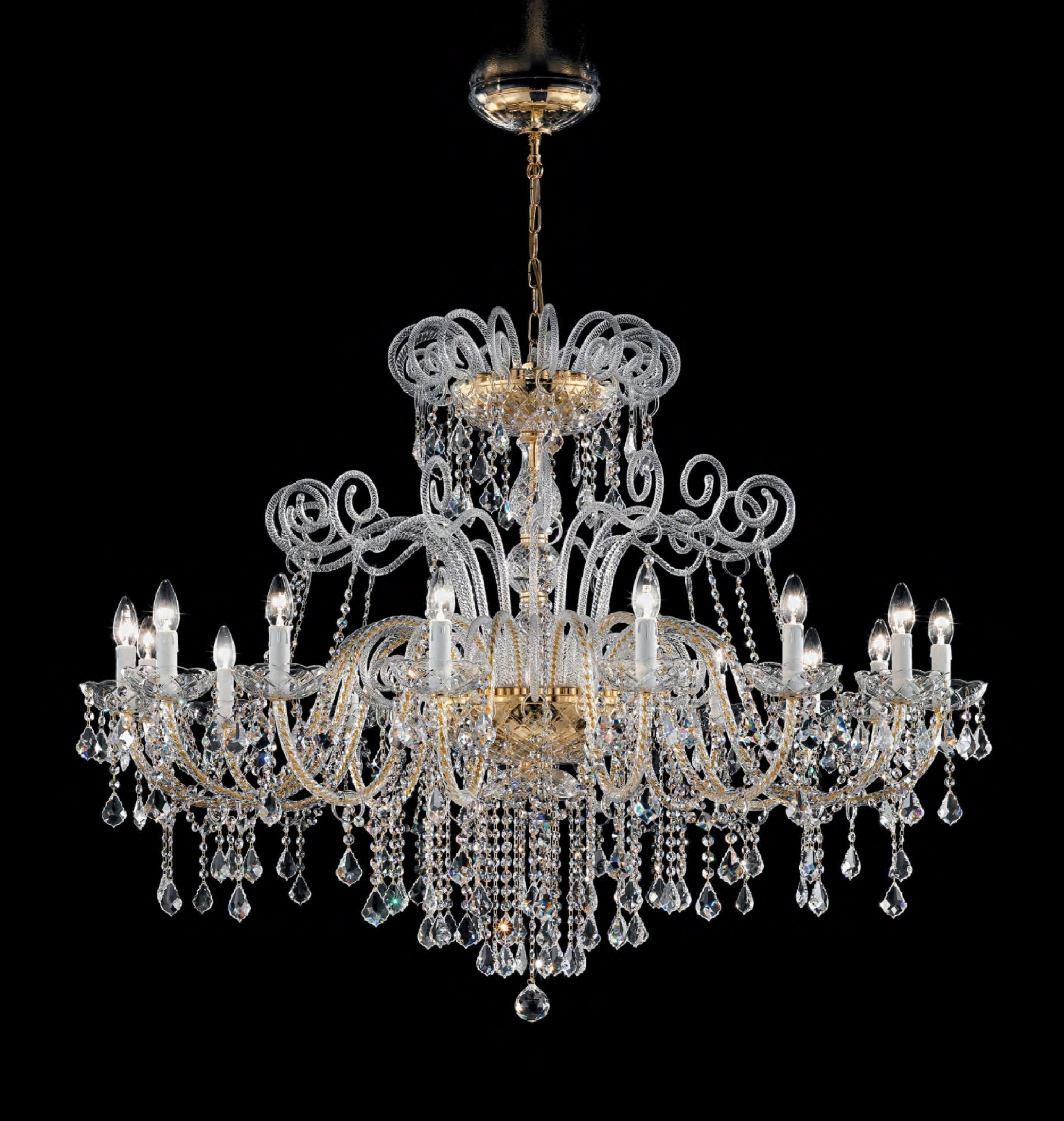 Trendy Antique Style Chandeliers Pertaining To Antique Style Murano Glass Swarovski Crystals Chandelier Syl948k (View 7 of 20)