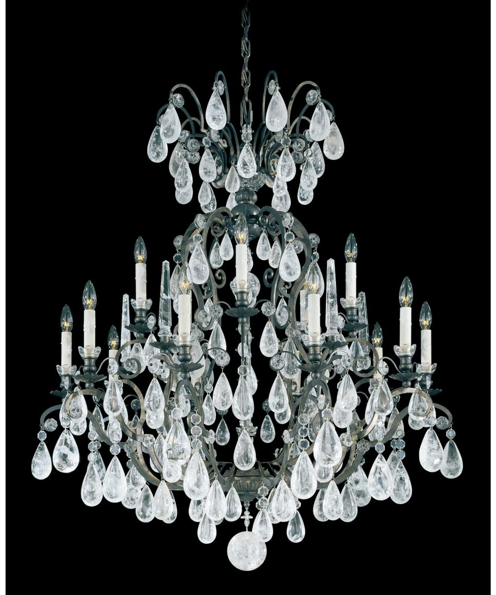 Trendy Black Chandelier Wall Lights Within Chandeliers Design : Fabulous Schonbek Lighting Swarovski Crystal (View 8 of 20)