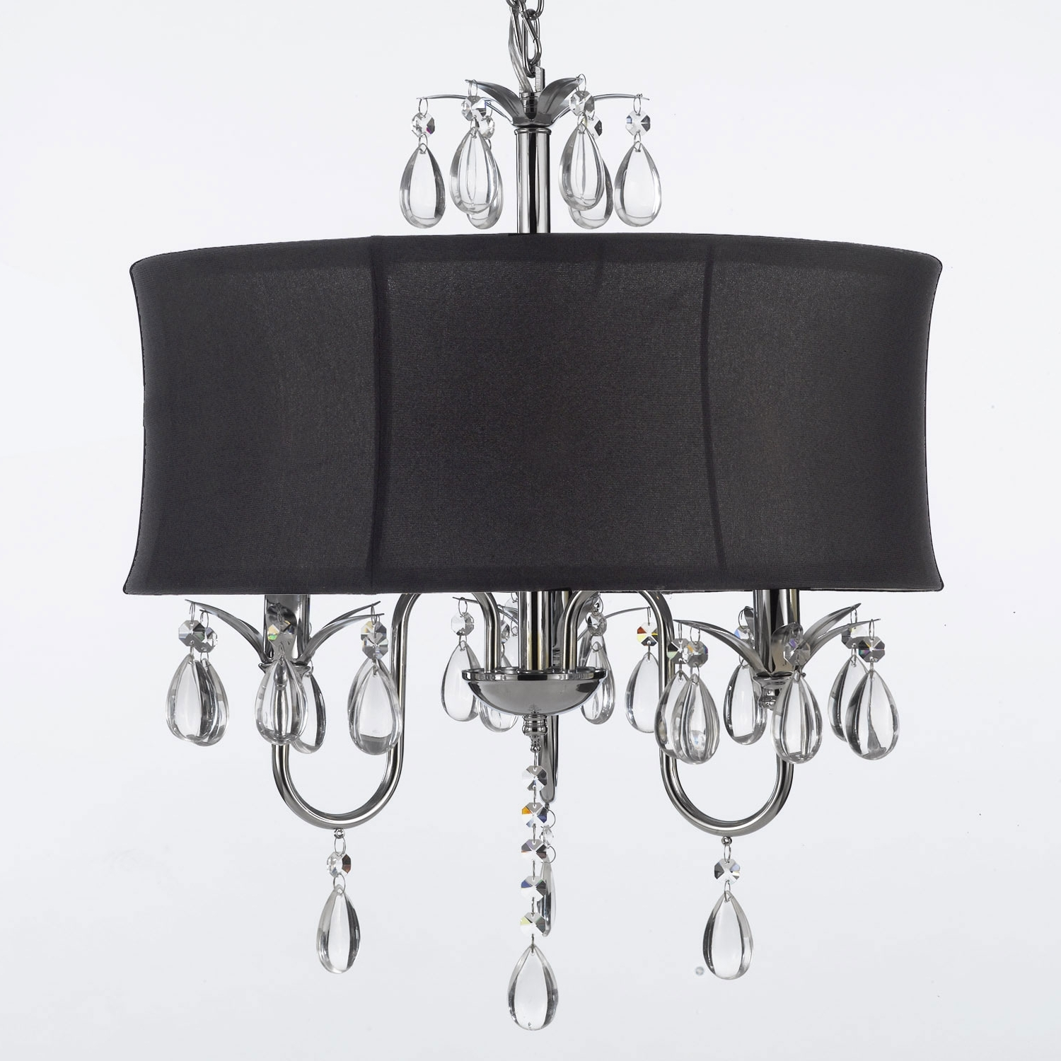 Trendy Black Chandeliers With Shades For Mini Chandeliers – Black, Crystal Mini Chandeliers (View 16 of 20)
