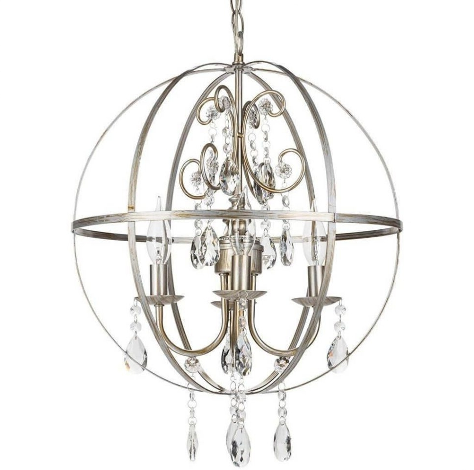 Trendy Chandelier Accessories Within Chandeliers Design : Wonderful Glass Orb Chandelier Light Ball (View 16 of 20)