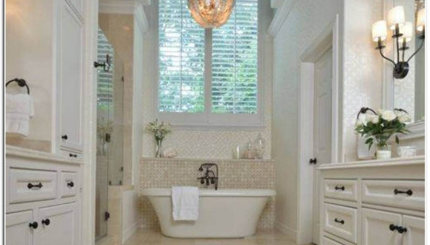 Trendy Chandelier : Chandeliers For Bathrooms Surprising Master Bathroom With Regard To Chandeliers For Bathrooms (View 16 of 20)