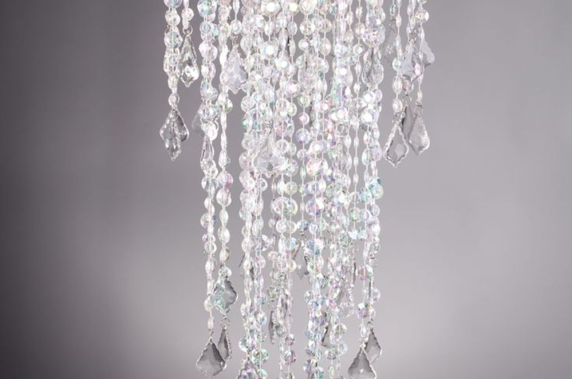 Trendy Chandelier : Crystal Acrilyc Bead Curtain Stunning Faux Crystal With Regard To Faux Crystal Chandelier Wedding Bead Strands (View 17 of 20)