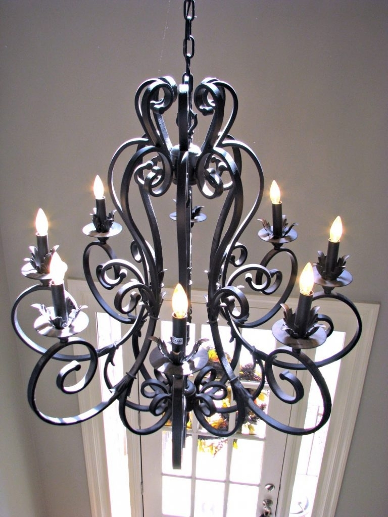Trendy Chandelier ~ Large Iron Chandelier Metal Closdurocnoir Black Wrought Pertaining To Large Iron Chandelier (View 3 of 20)
