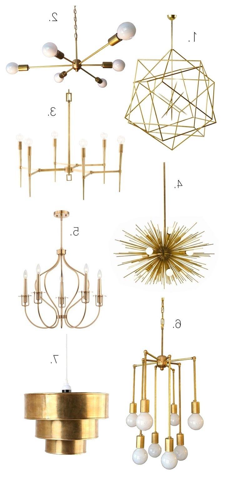 Trendy Chandelier Lighting : Gold Crystal Chandelier Modern Gold Chandelier Regarding Gold Modern Chandelier (View 19 of 20)