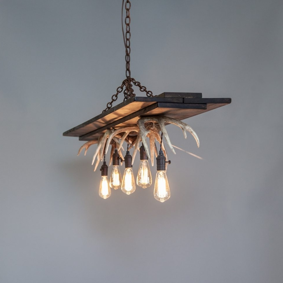 Trendy Chandeliers : Cool Simple Contemporary Antler Chandelier Photos Regarding Modern Antler Chandelier (View 16 of 20)