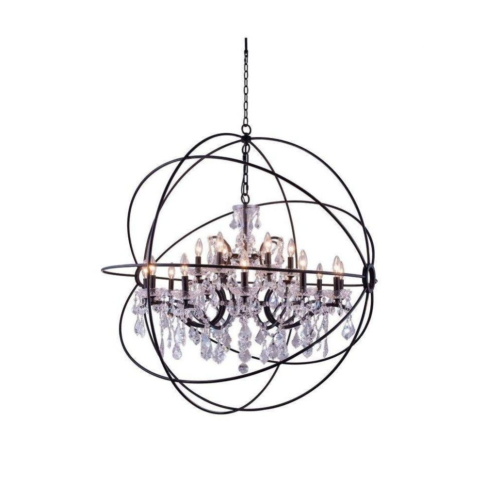 Trendy Chandeliers Design : Awesome Metal Sphere Chandelier Crystal Light Inside Metal Sphere Chandelier (View 15 of 20)