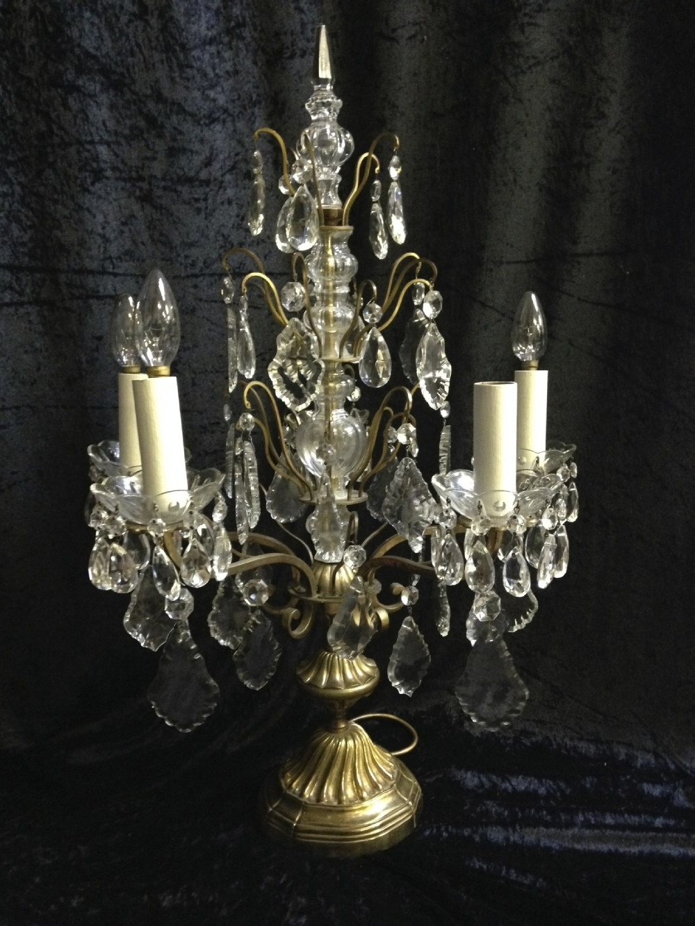 Trendy Crystal Table Chandeliers Within Chandeliers Design : Awesome French Antique Table Lamp Chandelier (View 17 of 20)