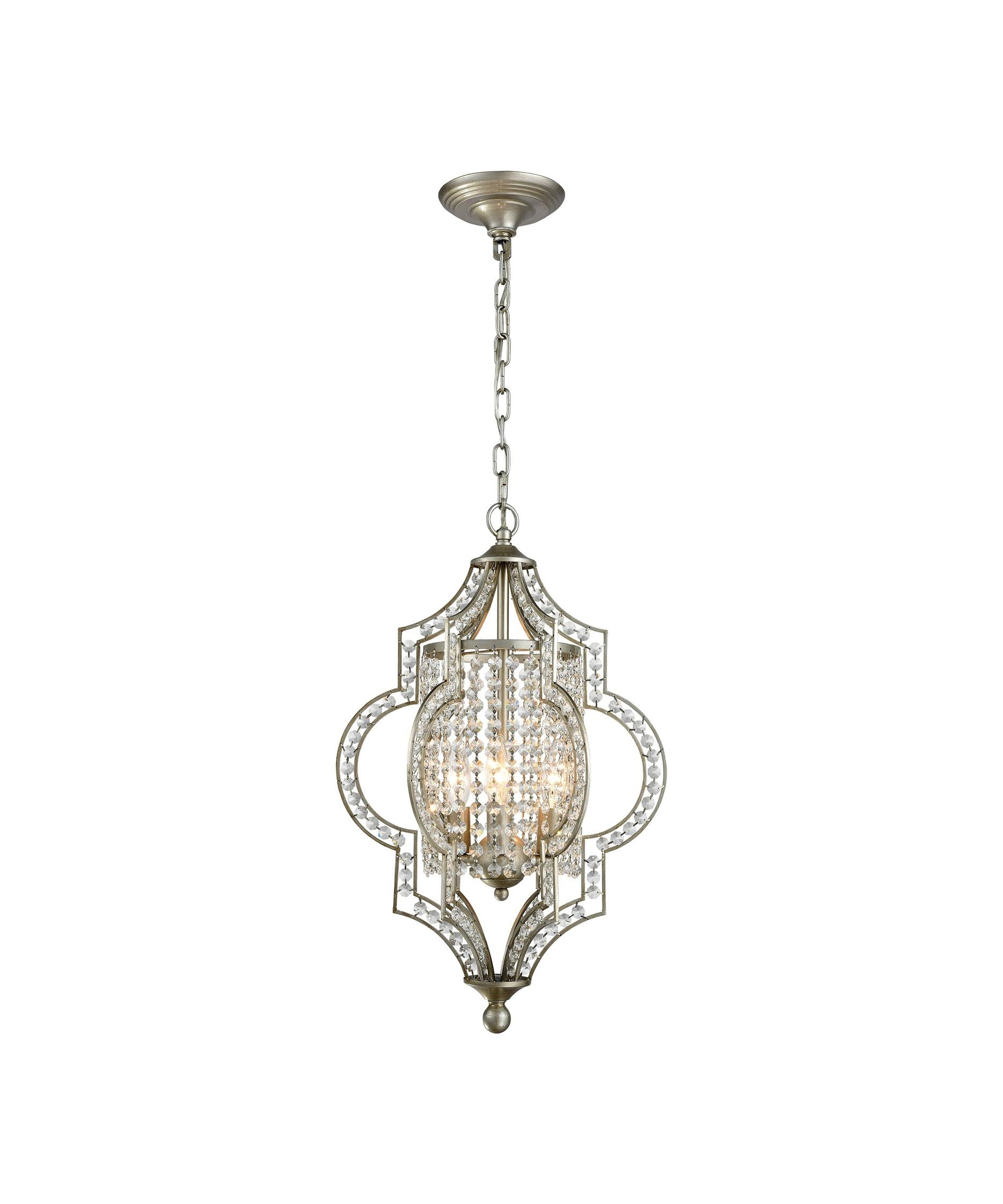 Trendy Elk Lighting 16203 Gabrielle 14 Inch Wide 3 Light Mini Pendant For 3 Light Crystal Chandeliers (View 20 of 20)