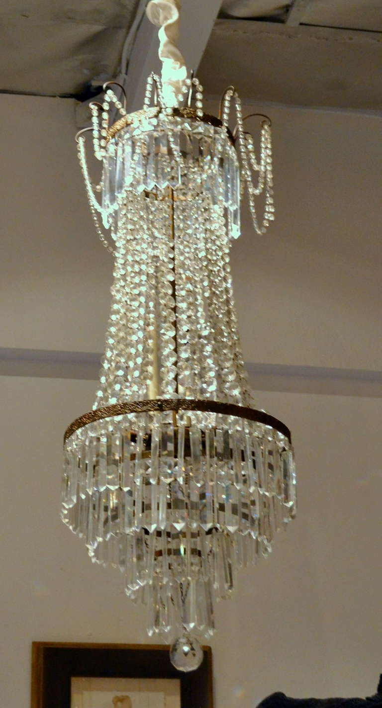 Trendy French Chandelier Regarding Fine Antique French Empire Cut Crystal Chandelier For Sale At 1Stdibs (View 18 of 20)