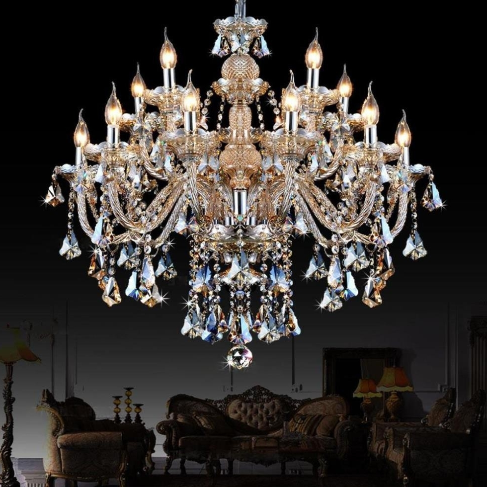 Trendy Huge Crystal Chandeliers Within Chandeliers Design : Amazing Huge Crystal Chandelier Orb Large (View 15 of 20)