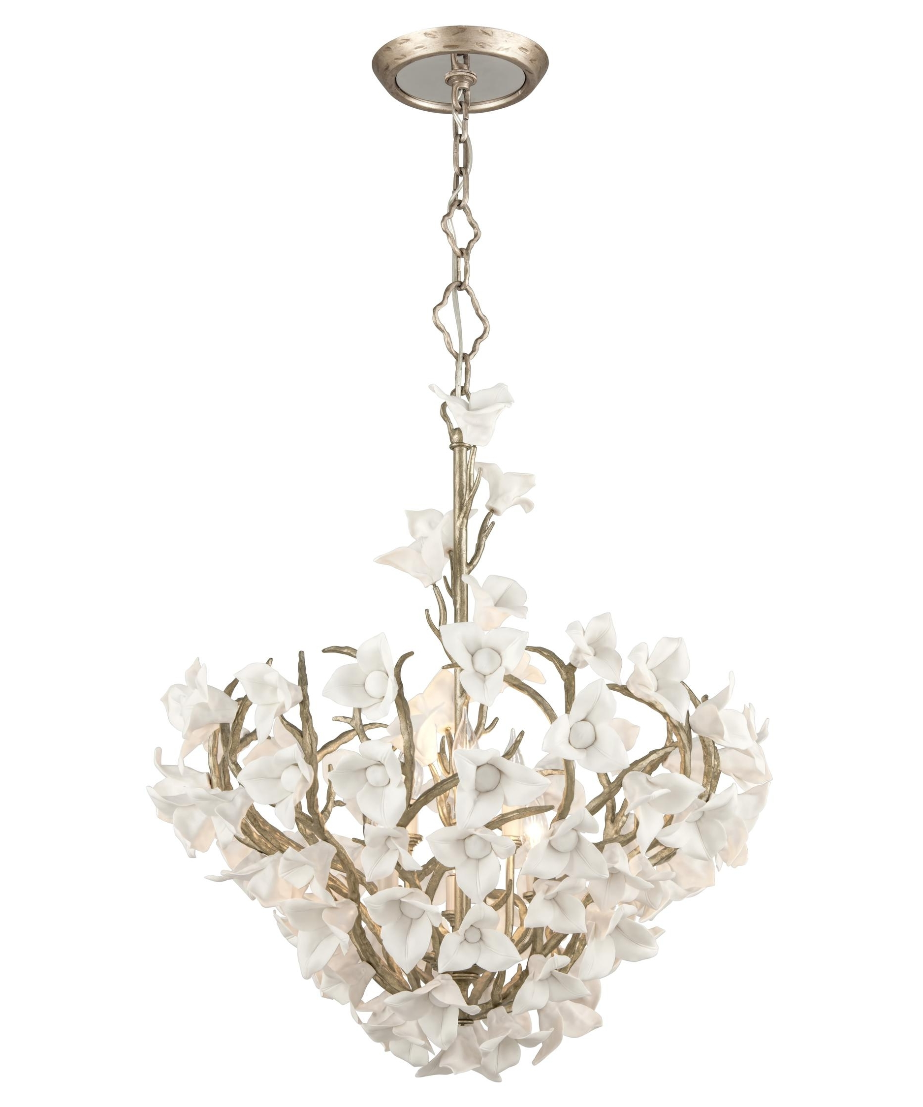 Trendy Lily Chandeliers Regarding Corbett Lighting 211 47 Lily 26 Inch Wide 6 Light Large Pendant (View 20 of 20)