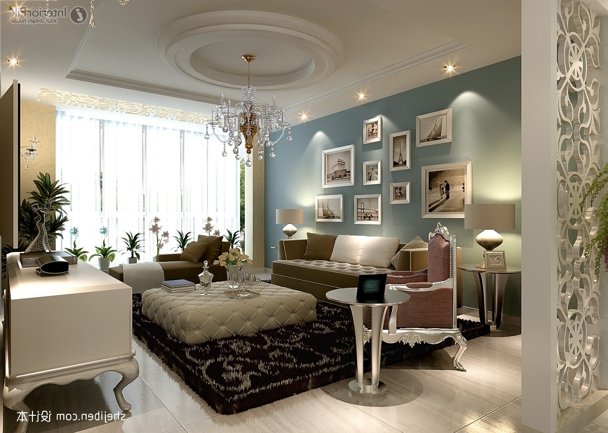 Trendy Living Room Chandeliers Pertaining To Photo Of Chandelier For Living Room Interior Decor Photos Big (View 2 of 20)