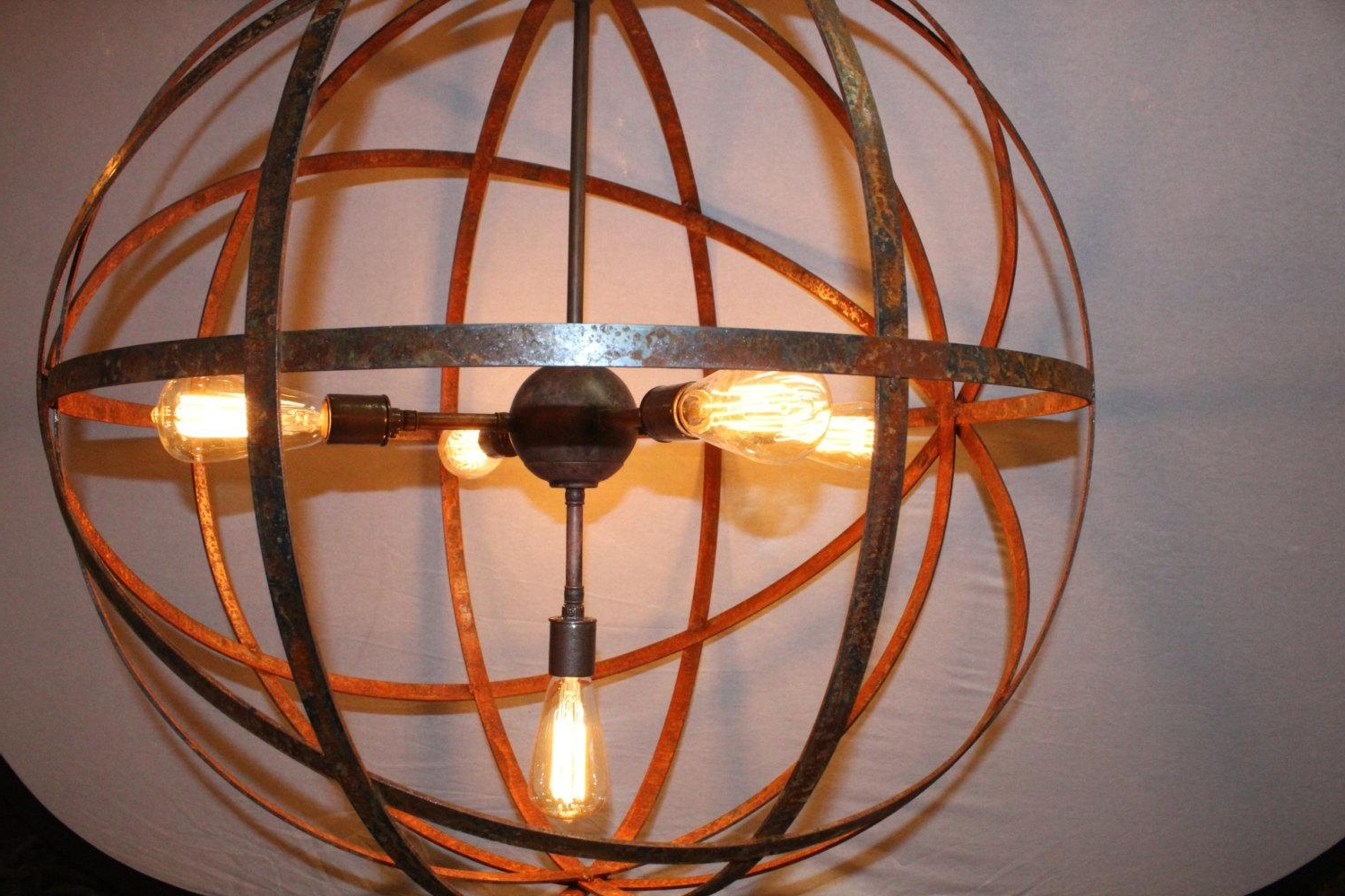 Trendy Metal Sphere Chandelier — Cookwithalocal Home And Space Decor : Made Inside Metal Sphere Chandelier (View 16 of 20)