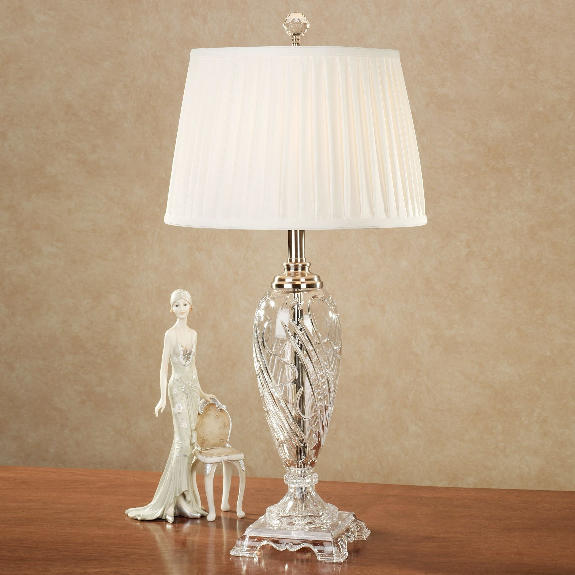 Trendy Morgana Crystal Table Lampdale Tiffany Crystal For Chandelier Night Stand Lamps (View 6 of 20)