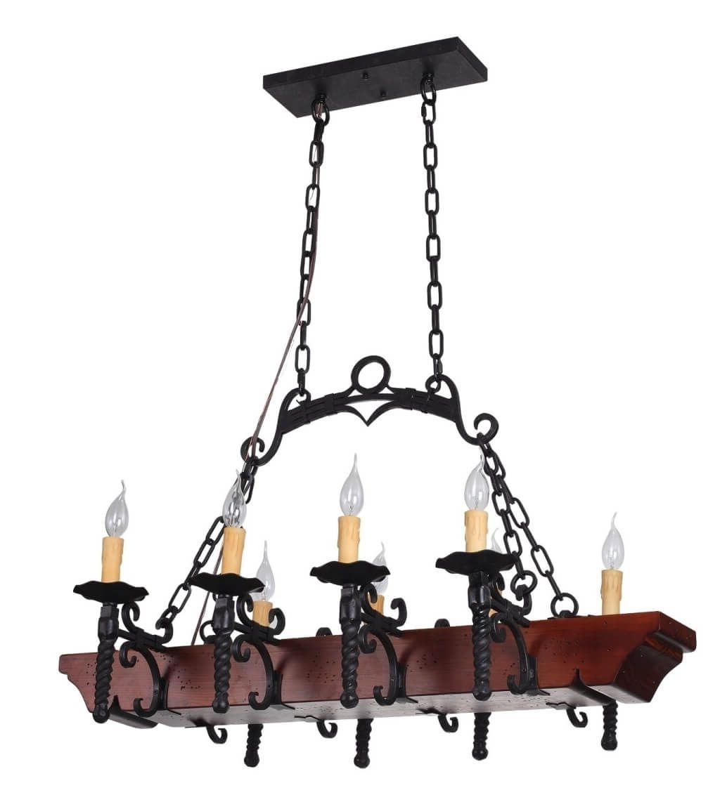 Tudor Wrought Iron Kitchen Chandelier With 8 Lights Kitchen Regarding Current Modern Wrought Iron Chandeliers (View 20 of 20)