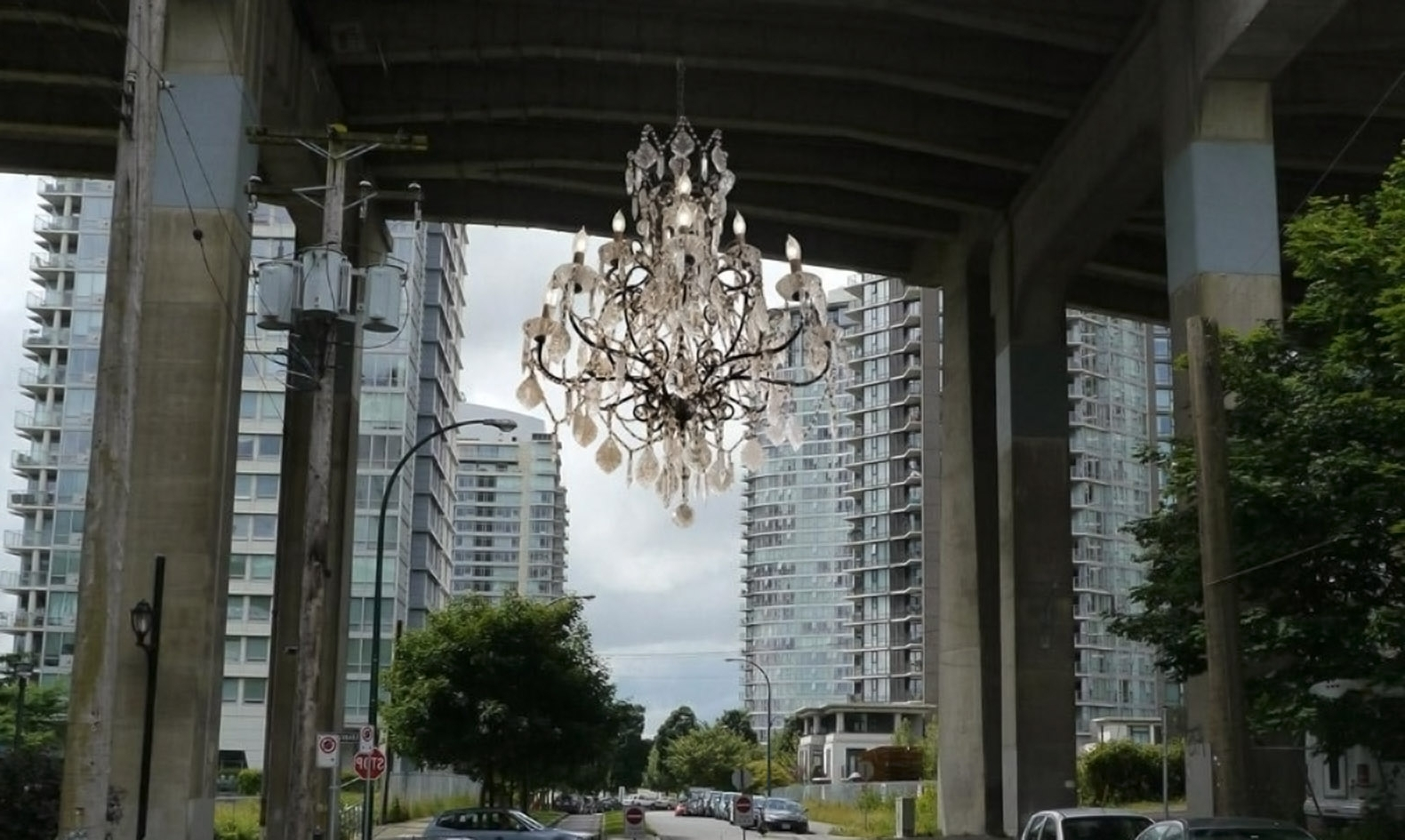 Vancouver Lights Up A Dark Highway Overpass With A Massive For Most Recent Massive Chandelier (Gallery 7 of 20)