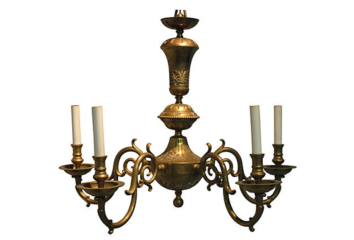 Vintage Brass Chandelier (Gallery 5 of 20)