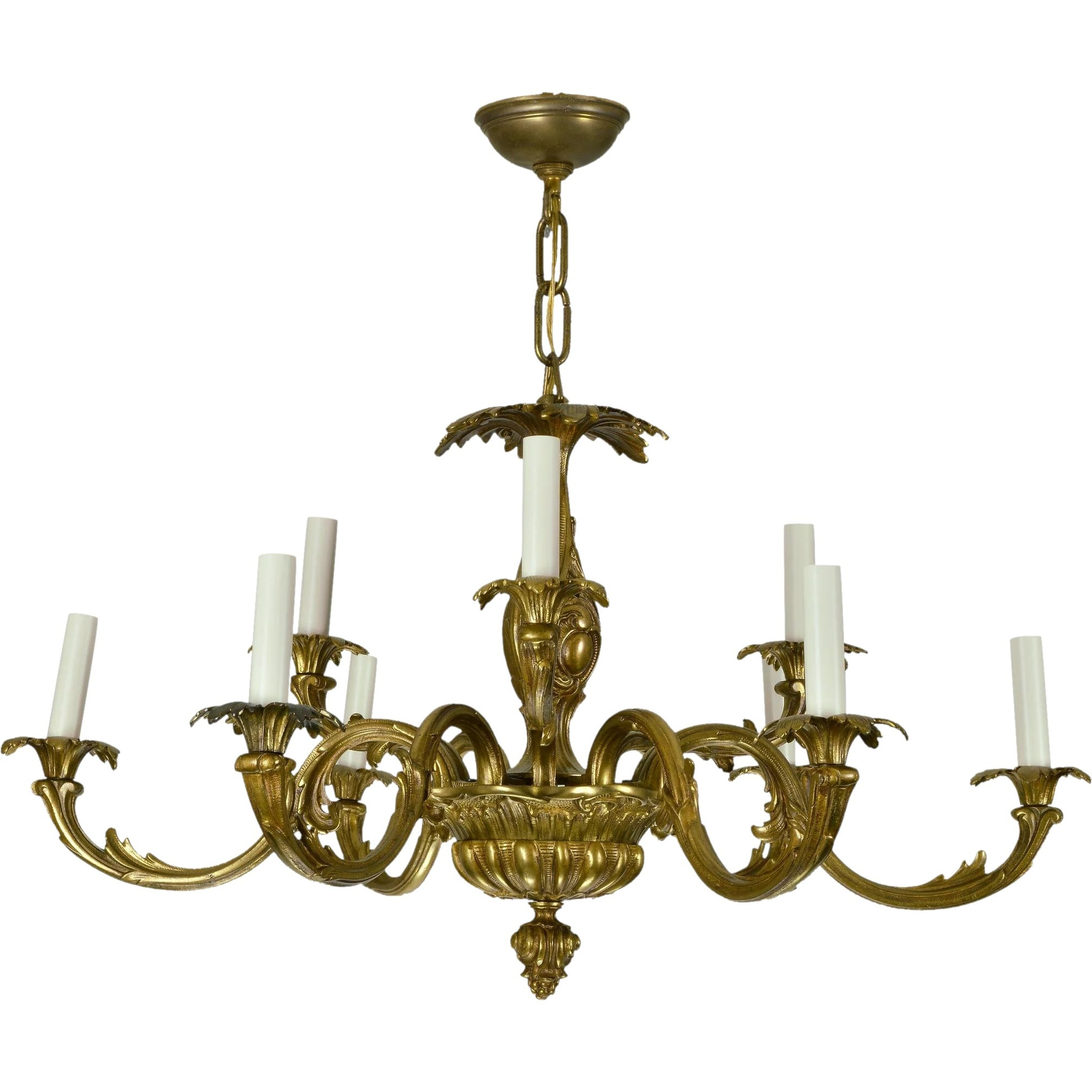 Vintage Brass French Baroque Chandelier : The Old Light Warehouse Inside Most Recent Baroque Chandelier (Gallery 11 of 20)