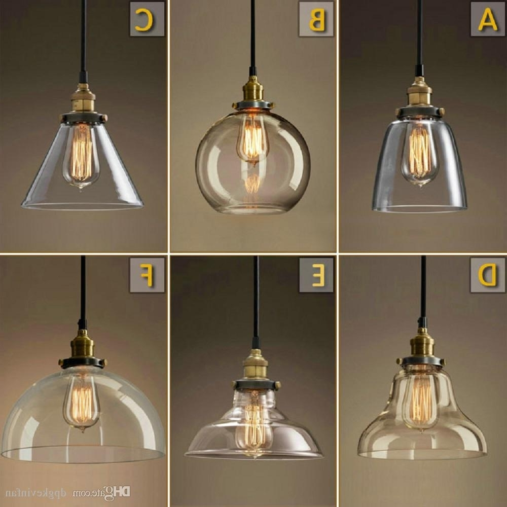 Vintage Chandelier Diy Led Glass Pendant Light Pendant Edison Lamp Throughout Famous Light Fitting Chandeliers (Gallery 14 of 20)