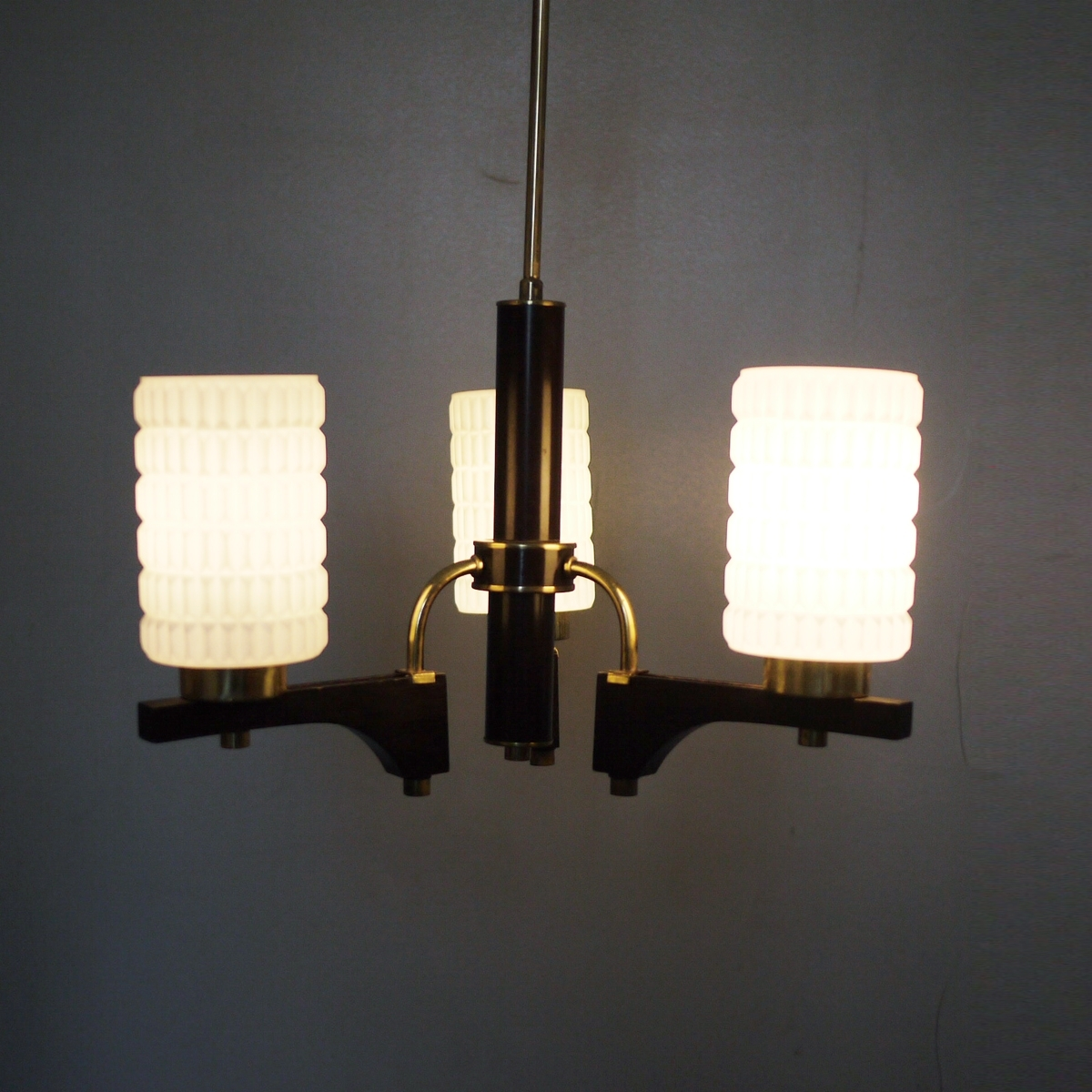 Vintage Gold And Black Glass Chandelier For Sale At Pamono Throughout Trendy Black Glass Chandelier (Gallery 16 of 20)