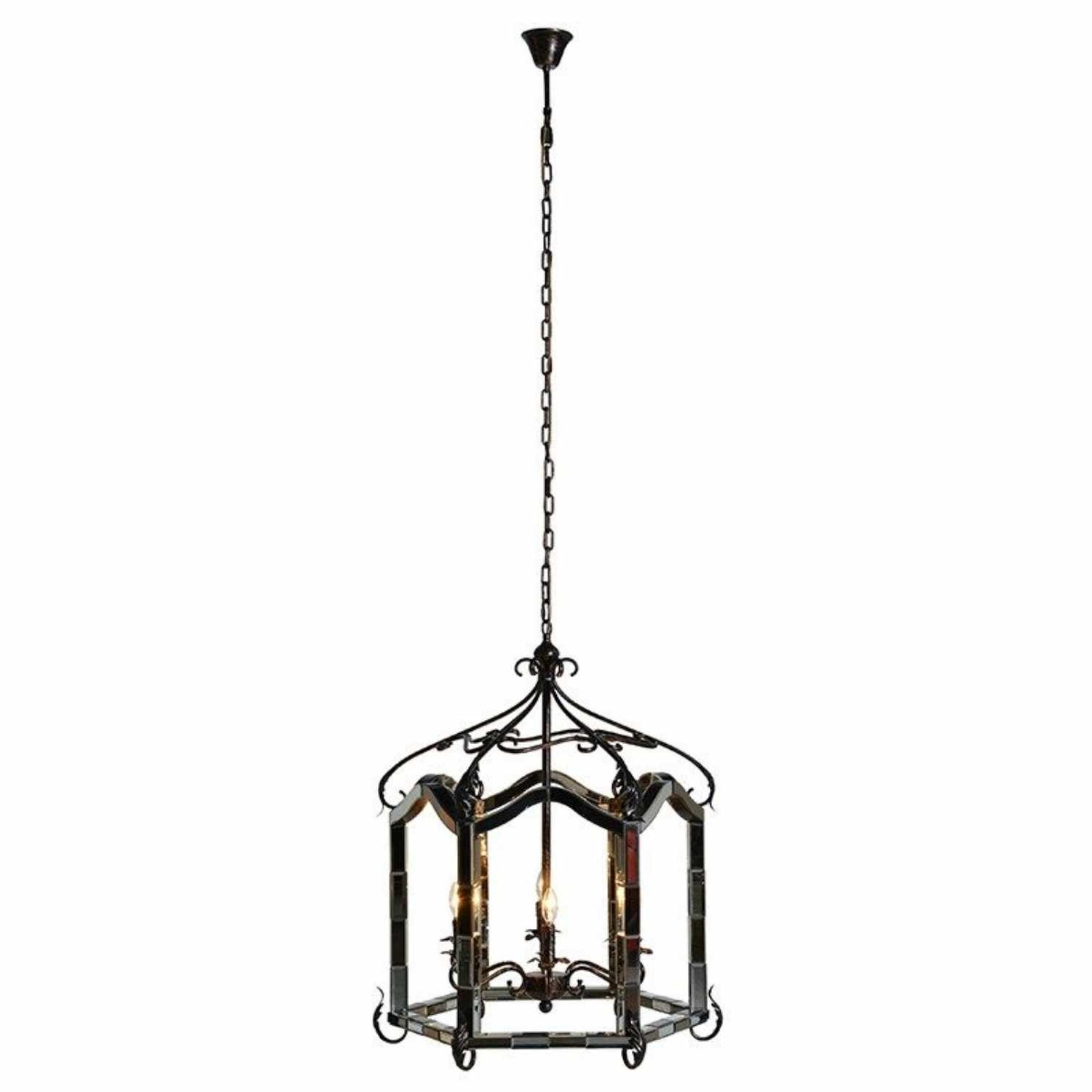 Vintage Style Venetian Mirrored Chandelier Regarding Fashionable Mirrored Chandelier (View 19 of 20)