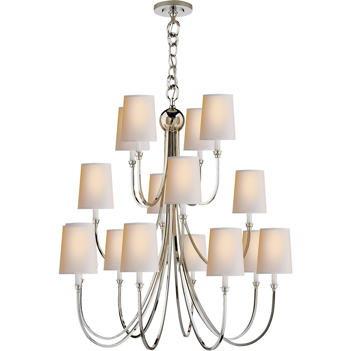 Visual Comfort Tob5019 Reed 16 Light Extra Large Chandelier With Inside Fashionable Extra Large Chandelier Lighting (View 18 of 20)