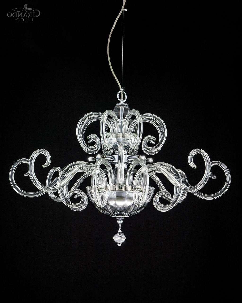 Well Known 119/sm Chrome Modern Crystal Chandelier With Swarovski Elements With Chrome Crystal Chandelier (View 13 of 20)