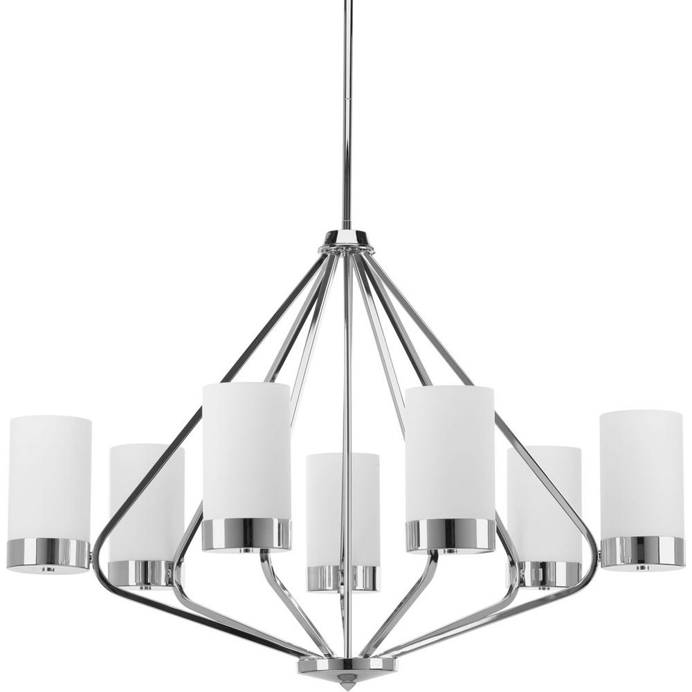 Well Known 7 Light Chandeliers With Regard To Progress Lighting Elevate Collection 7  Light Polished Chrome (View 13 of 20)