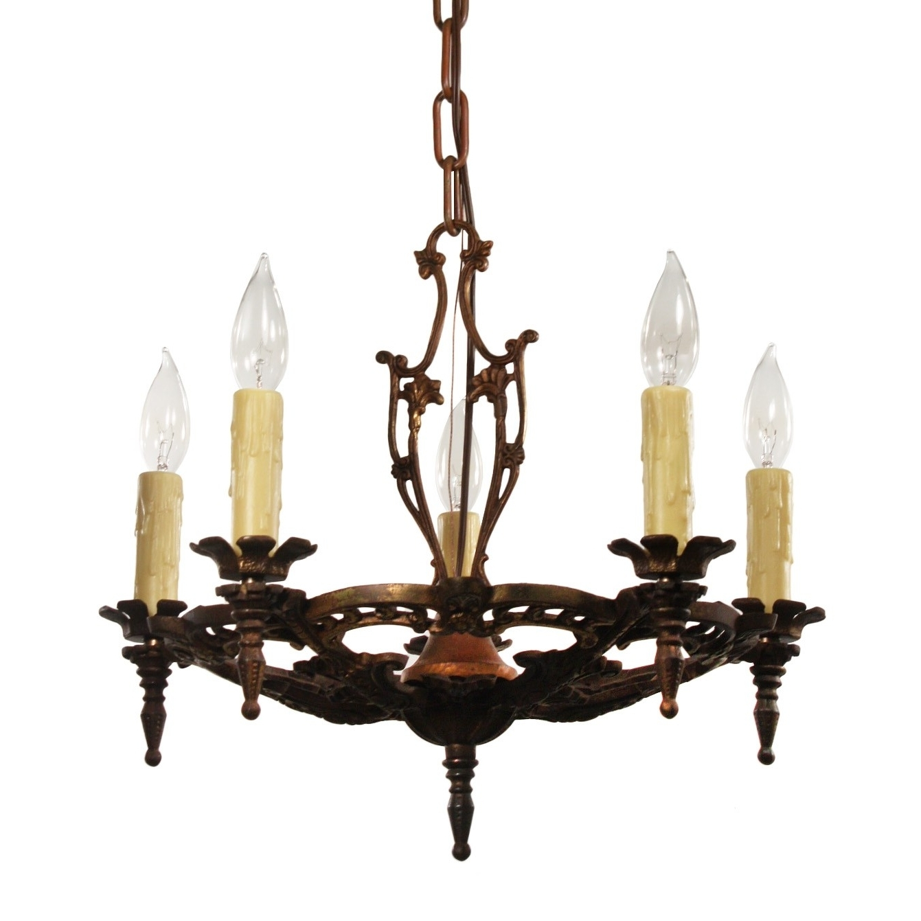 Well Known Antique Chandelier In Cast Iron, Antique Lighting – Preservation With Cast Iron Antique Chandelier (View 8 of 20)