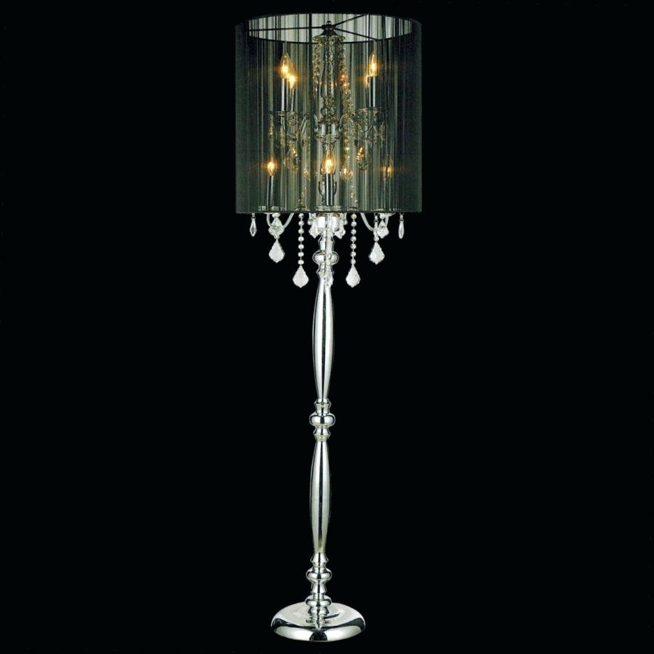 Well Known Black Chandelier Standing Lamps Within Floor Lamp ~ Chandelier Floor Lamps Standing Lamp Crystal Shade (View 17 of 20)