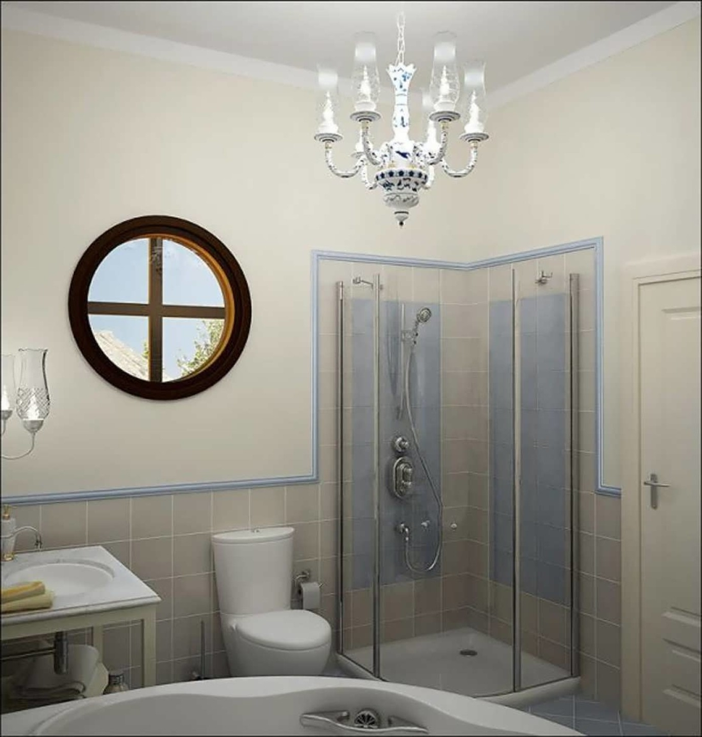 Well Known Chandeliers For Bathrooms Inside Small Chandeliers For Bathroom Small Crystal Chandeliers For (View 14 of 20)