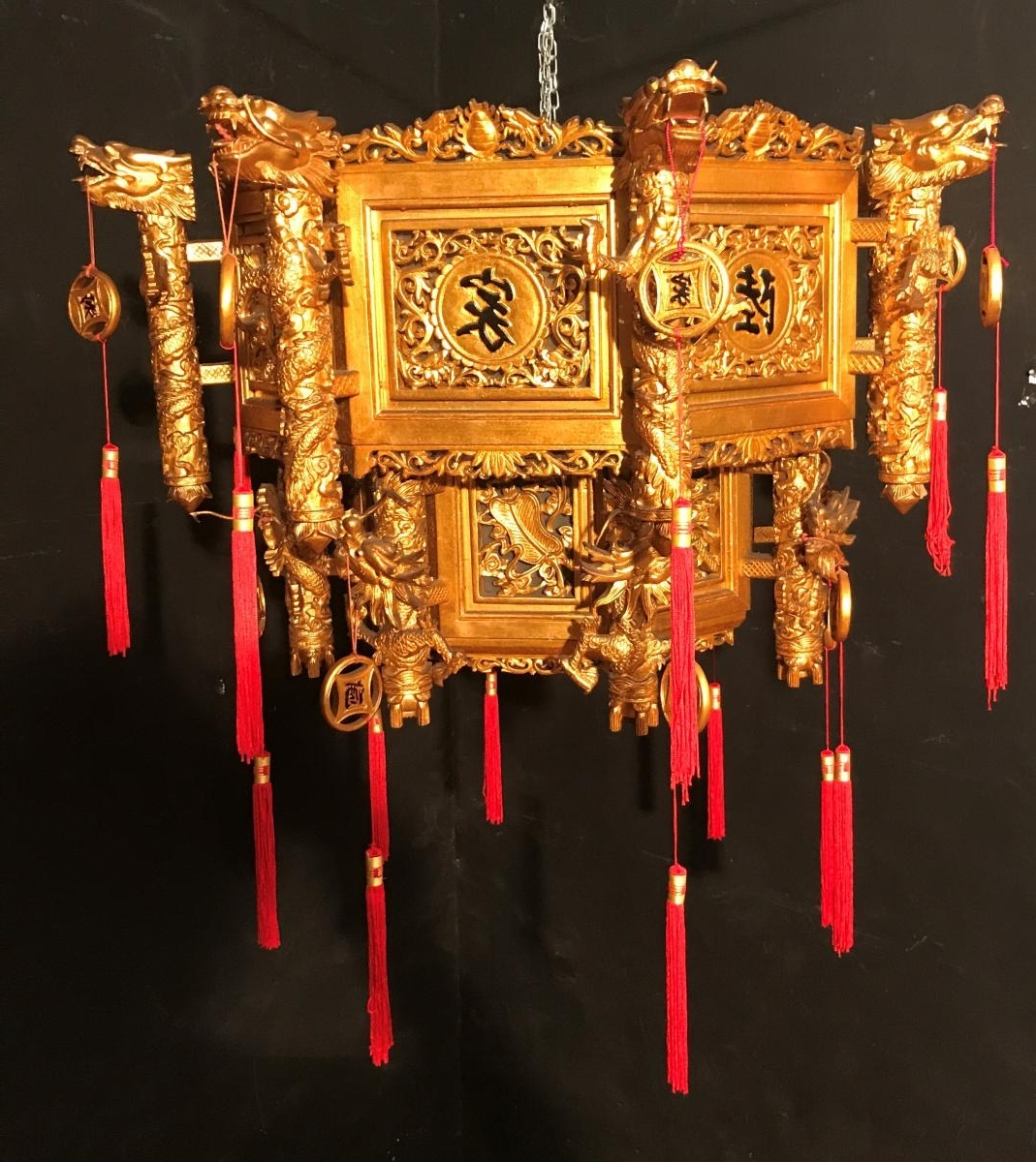 Well Known Chinese Chandelier Throughout Chinese Chandelier Dore 'xxth Century – Ceiling Lights (View 10 of 20)