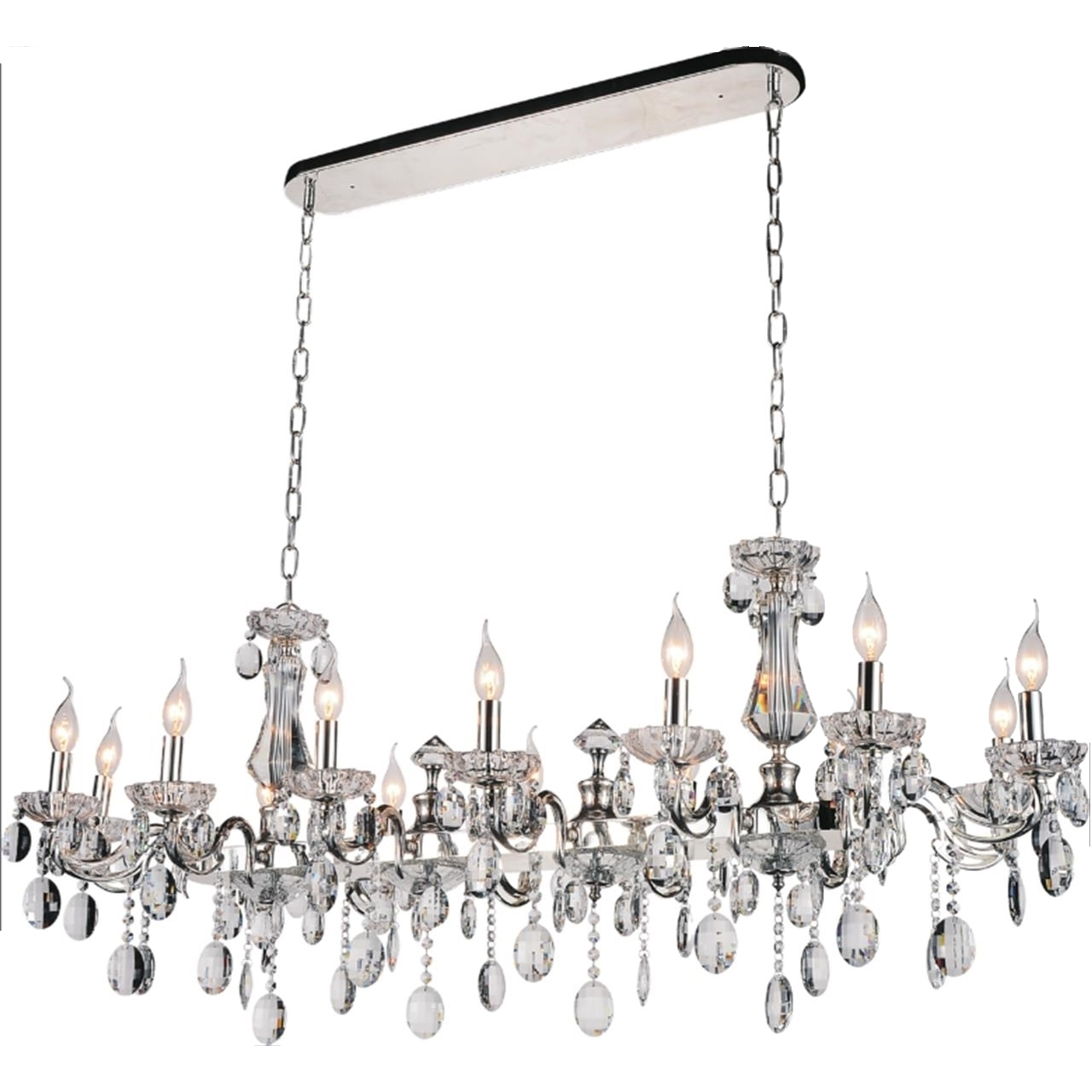 Well Known Chrome Chandeliers Regarding Brizzo Lighting Stores (View 18 of 20)