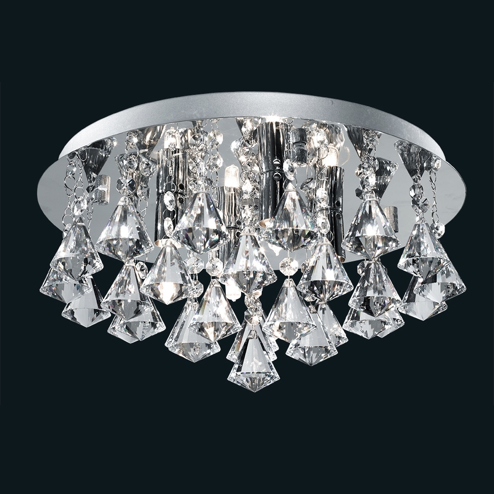Well Known Collection In Crystal Ceiling Chandelier Crystal Chandeliers Crystal For Chandelier Bathroom Ceiling Lights (View 20 of 20)