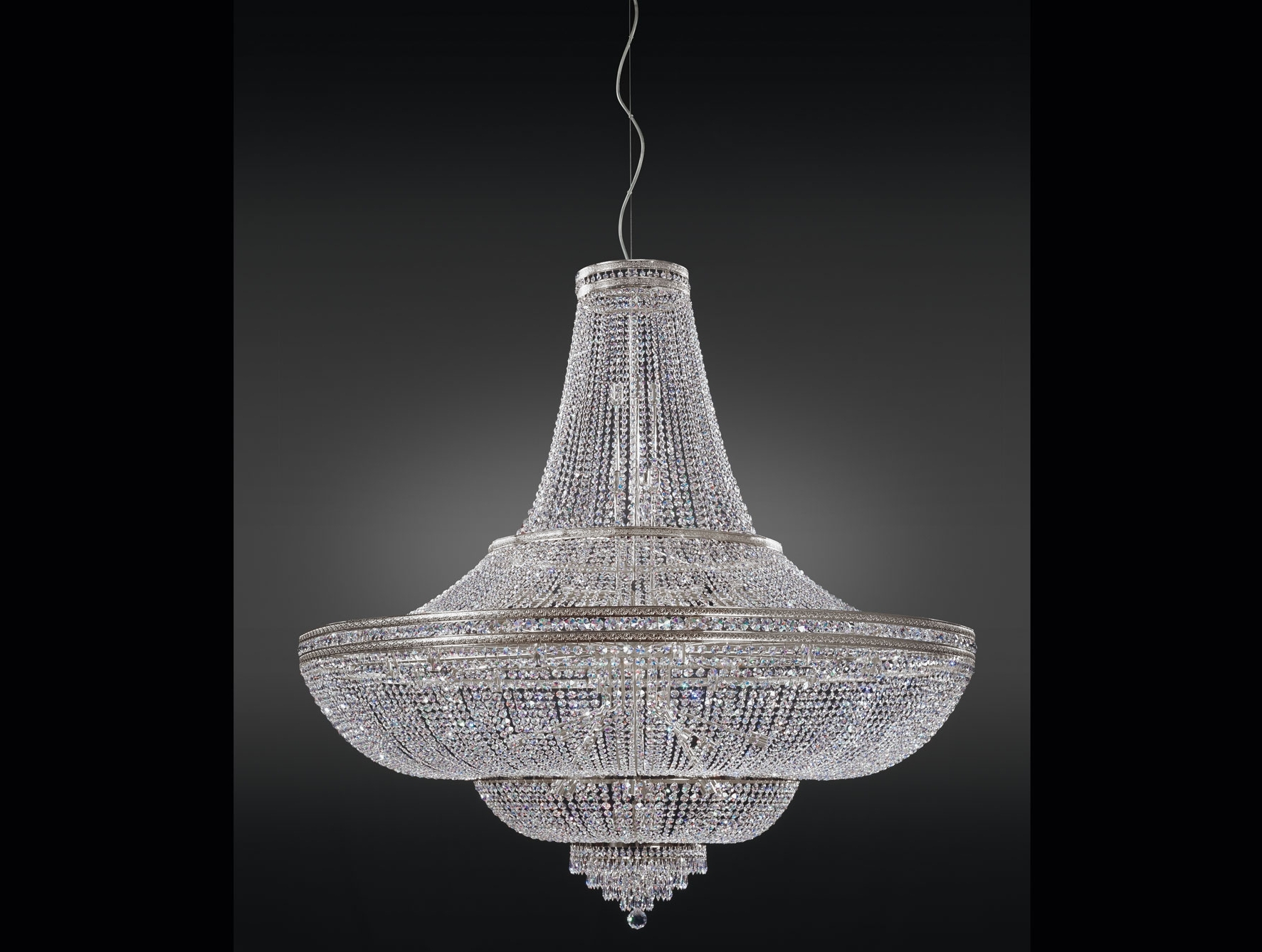 Well Known Costco Chandeliers Intended For Nella Vetrina Italamp 1020/144 Swarovski Crystal Chandelier (View 20 of 20)