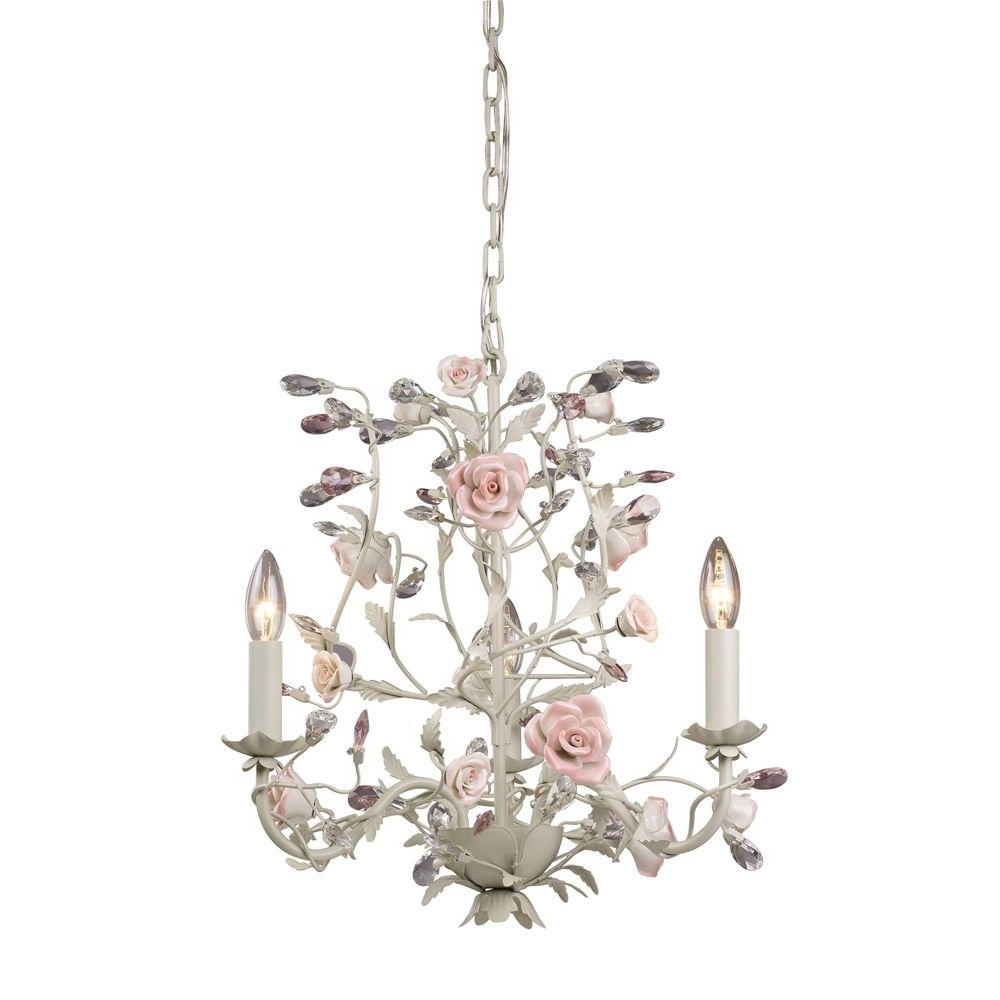 Well Known Cream Chandelier In Titan Lighting Heritage 3 Light Cream Ceiling Mount Chandelier Tn (View 17 of 20)
