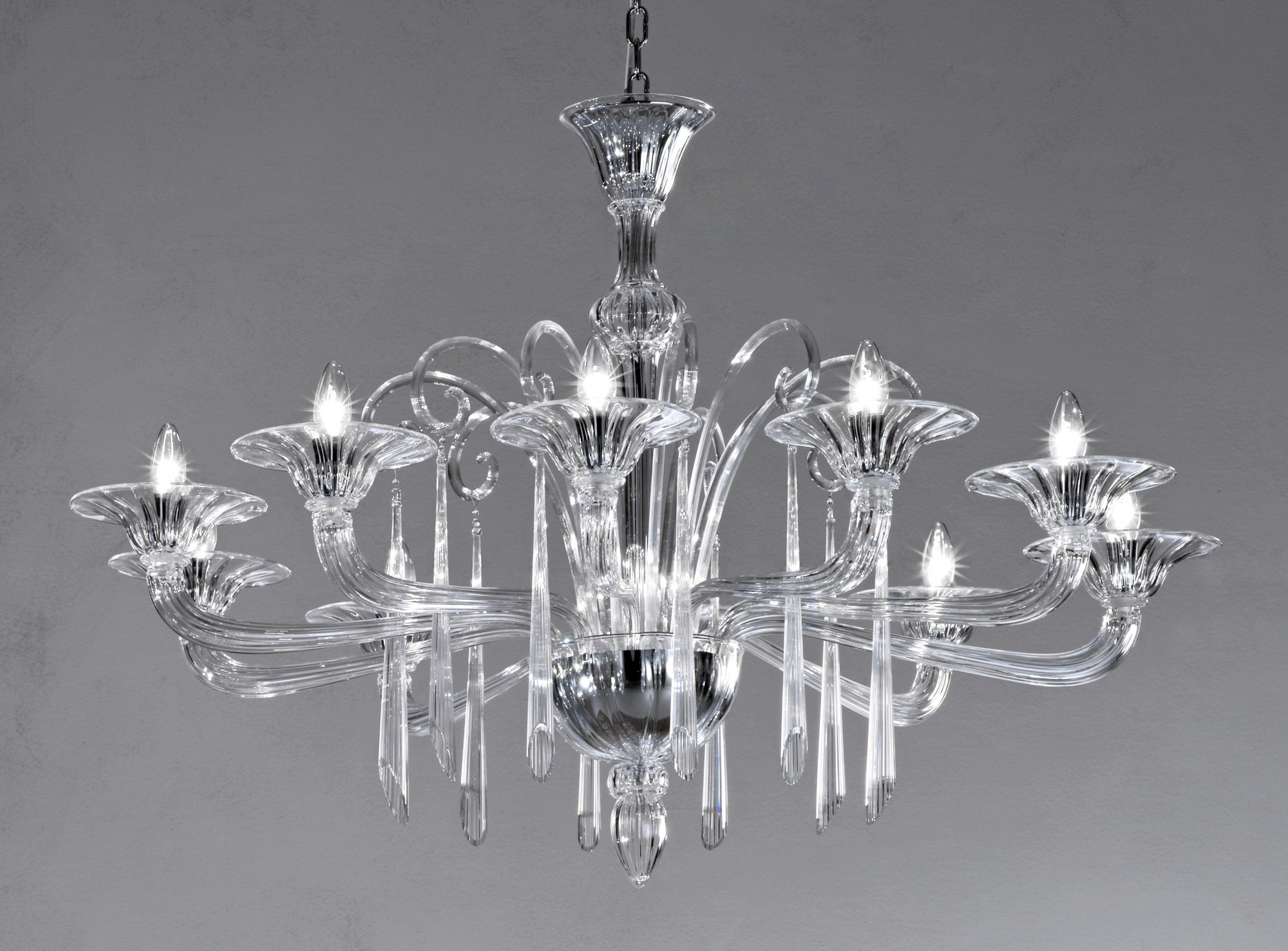 Well Known Crystal Clear Modern Murano Chandelier Dml6012K10 – Murano Lighting Pertaining To Murano Chandelier (View 19 of 20)
