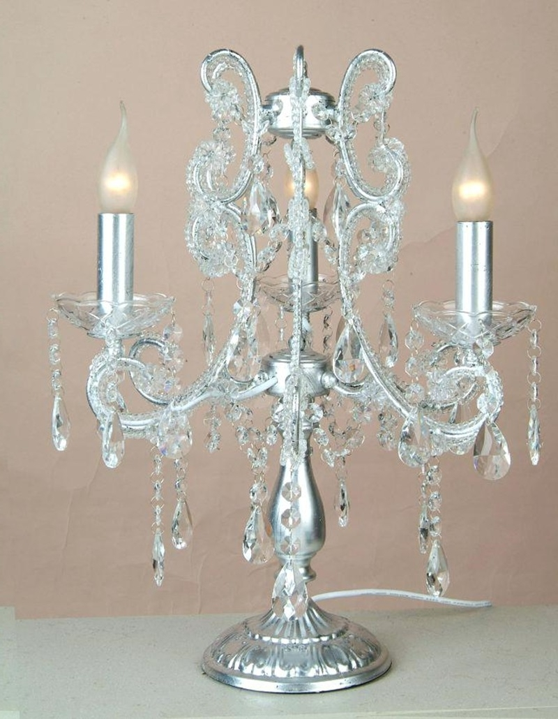 Well Known Crystal Table Chandeliers Within Crystal Chandelier Table Lamp Add Beauty To Any Room (View 19 of 20)