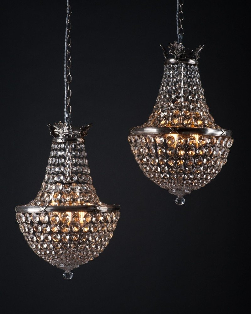 Well Known Crystal Waterfall Chandelier Inside Of Antique Crystal Bag Chandeliersfaraday, Antique Lighting (View 12 of 20)