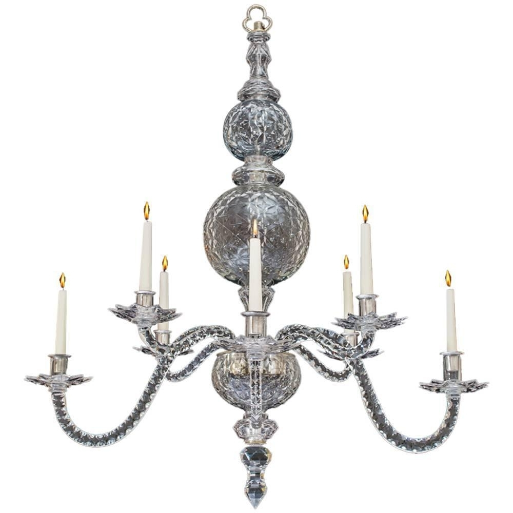 Well Known Extremely Rare English George Ii Period Cut Glass Chandelier For Regarding Georgian Chandelier (View 18 of 20)