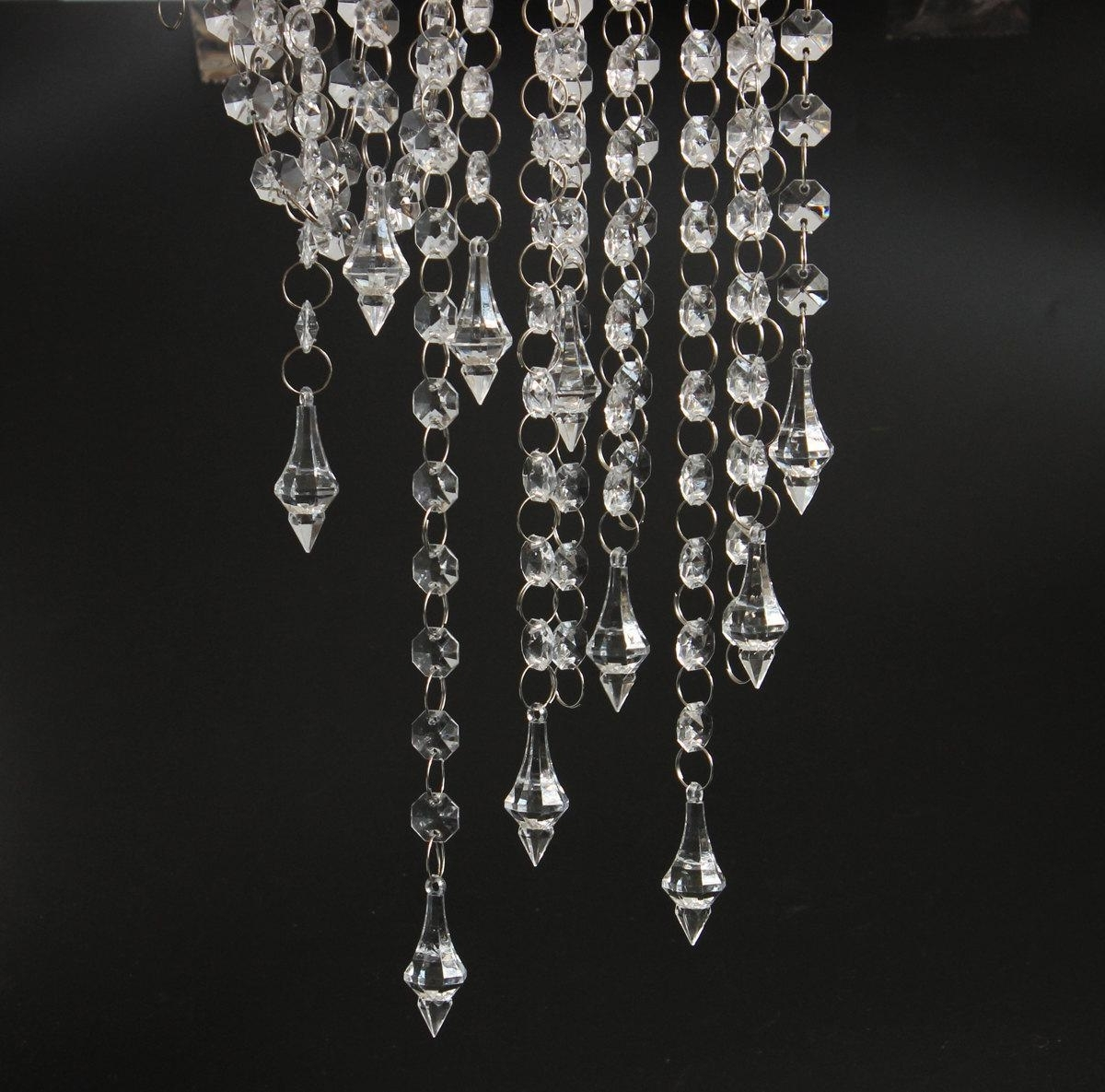 Well Known Faux Crystal Chandelier Wedding Bead Strands Regarding 33Ft Crystal Garlands Acrylic Bead Strands Manzanita Tree Wedding (View 18 of 20)